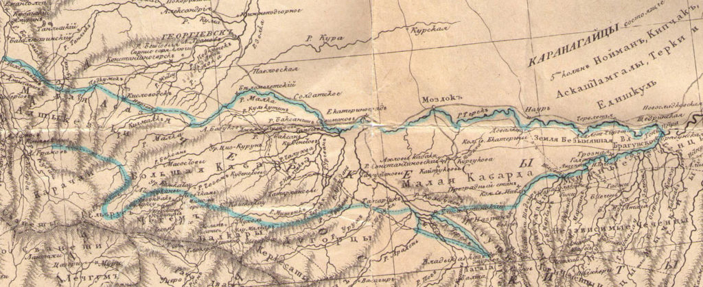 Карта Броневского 1823 год