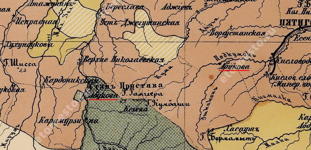 Этнографическая карта Кавказского края Зейдлица (1880)