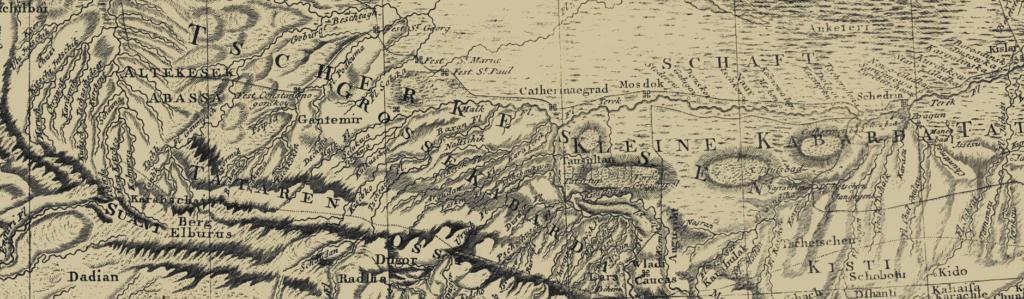 Карта Кавказа второй половины XVIII века (1870)