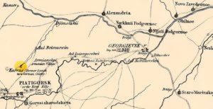 Карта Черкесии и северной Кубани (1855)